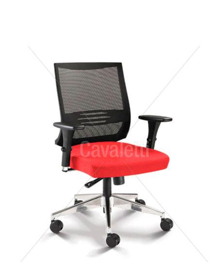 Cavaletti Air – Poltrona Giratória 27001 Syncron 3D Alumínio