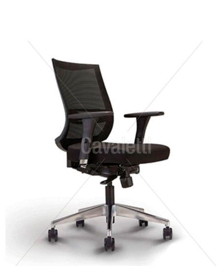 Cavaletti Air – Poltrona Giratória 27001 Syncron RP 3D Alumínio