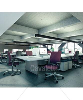 Cavaletti Mais – Poltrona Giratória Alta 37001 Syncron 3D Alumínio