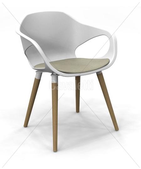 Cavaletti Stay – Cadeira Aproximação com Pé Madeira Envernizado 33206