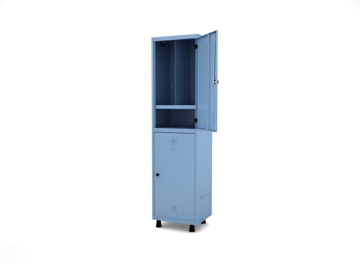 Roupeiro de Aço Insalubre Prateleira T 2 Portas