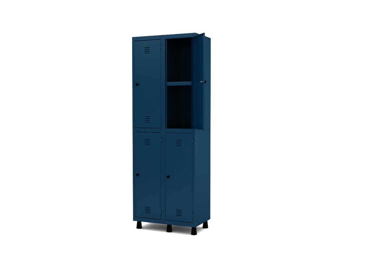Roupeiro de Aço 4 Portas GRP/GRF 502-4 PRI