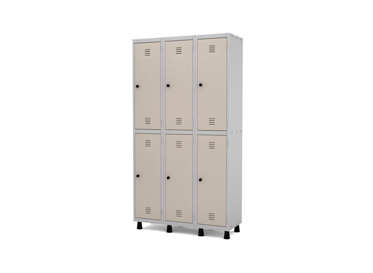 Roupeiro de Aço 6 Portas GRP/GRF 503-6