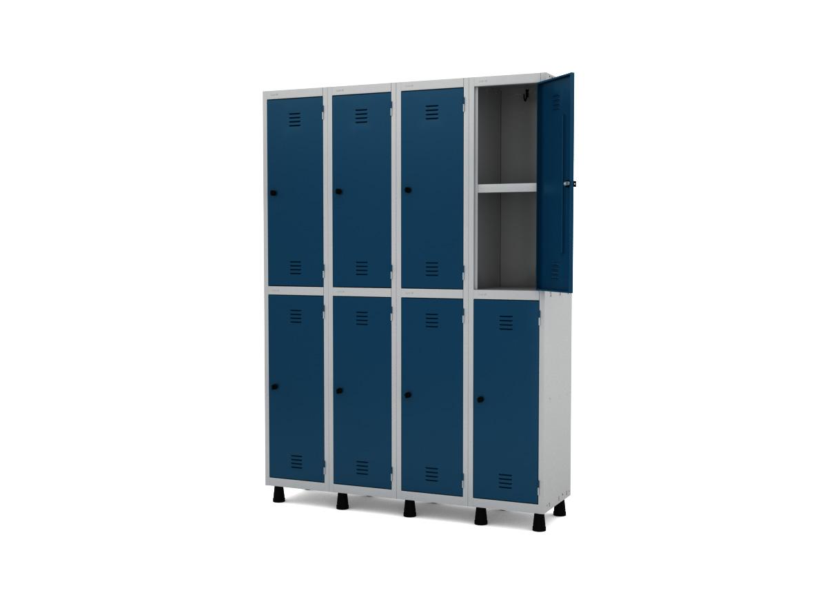 Roupeiro de Aço 8 Portas GRP/GRF 504-8 PRI