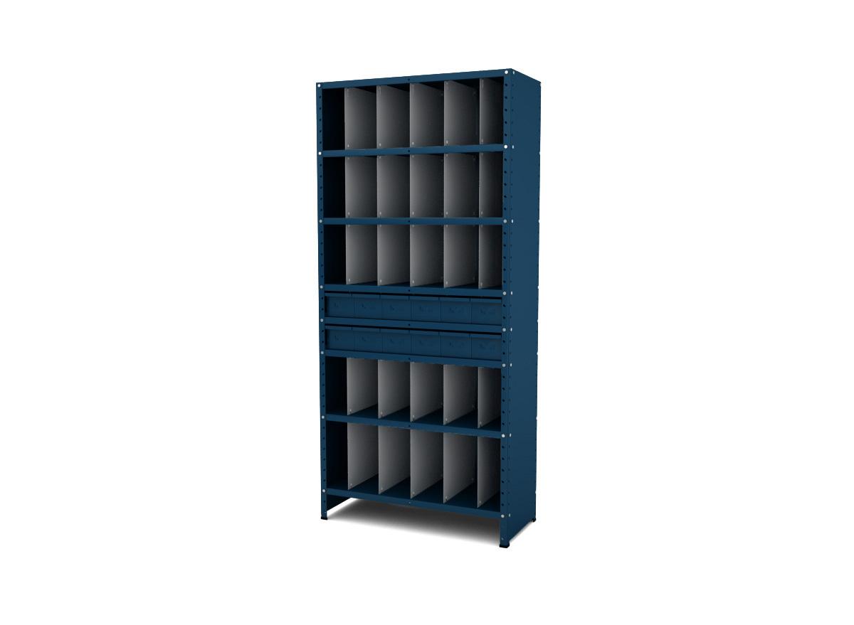 Chapas Laterais e de Fundo / Divisores / Colunas / Prateleiras / Gavetas para Estantes / Reforços em X